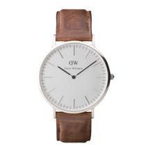 Daniel Wellington Men's Classic Cardiff Silver Tone 40mm Watch