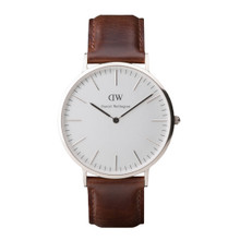 Daniel Wellington Men's Classic Bristol Silver Tone 40mm Watch