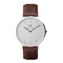 Daniel Wellington Men's Classic Bristol Silver Tone 40mm Watch