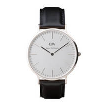 Daniel Wellington Men's Classic Sheffield Silver Tone 40mm Watch