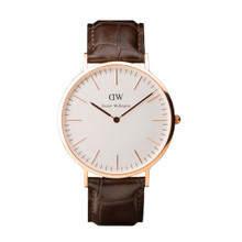 Daniel Wellington Men's Classic York Rose Gold Tone 40mm Watch
