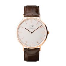 Daniel Wellington Men's Classic York Rose Gold Tone 40mm Watch