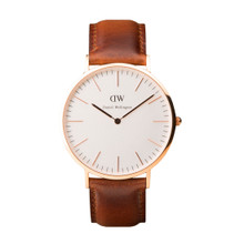 Daniel Wellington Men's Classis St Andrews  Rose Gold Tone 40mm Watch