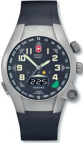 Swiss Army Men's Titanium Pathfinder Digital Compass Black Dial Strap 24837