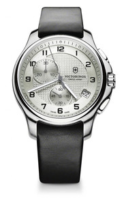 Victorinox Swiss Army Officer's ChronographLight Gray Dial Men's Watch 241553