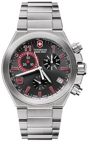 Swiss Army Men's Convoy Quartz Chronograph Red Hands Stainless Steel 241317