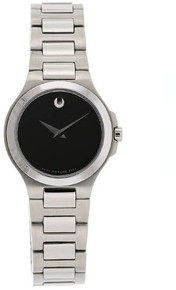 Movado Ladies Corporate Exclusive Ladies Black Dial Stainless Steel 0606164
