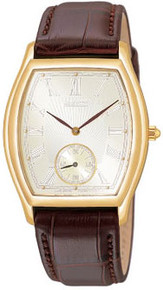 Seiko Men's Gold Tone Stainless Steel Dress Champagne Dial  SRK008