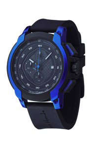 Ritmo Mundo Quantum I Stainless Steel and Blue Aluminum Watch, 50mm