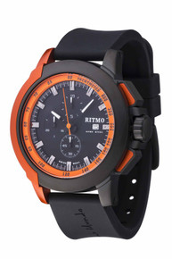 Ritmo Mundo Quantum II Stainless Steel and Orange Aluminum Watch, 50mm