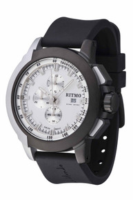 Ritmo Mundo Quantum II Stainless Steel and Black and White Aluminum Watch, 50mm