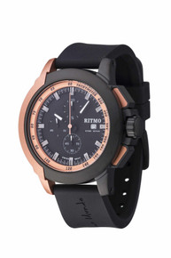 Ritmo Mundo Quantum II Collection Stainless Steel and Rose Gold Aluminum Watch, 43mm