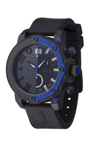 Ritmo Mundo Quantum III Collection Stainless Steel and Blue Aluminum Watch, 50mm