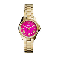 Fossil Ladies Cecile Small Three-Hand Stainless Steel Watch - Gold-Tone AM4598