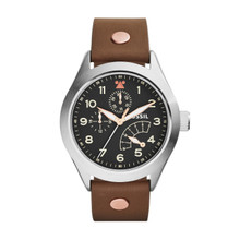 Fossil Men's The Aeroflite Multifunction Leather Watch - Brown  CH2939