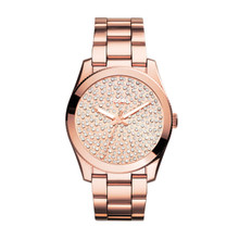 Fossil Ladies Perfect Boyfriend Three-Hand Stainless Steel Watch - Rose  ES3690