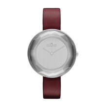 Skagen Gitte Faceted Glass Leather Watch SKW2273