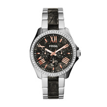 Fossil Ladies Cecile Multifunction Stainless Steel And Acetate Watch AM4632