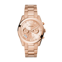 Fossil Ladies Perfect Boyfriend Multifunction Stainless Steel Watch Rose ES3885 Rose