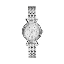 Fossil Ladies Georgia Cordell Three-Hand Stainless Steel Watch ES3893 Silver