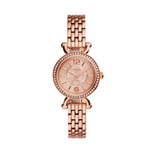 Fossil Ladies Georgia Cordell Three-Hand Stainless Steel Watch Rose ES3894 Rose Gold