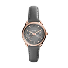 Fossil Ladies Tailor Multifunction Leather Watch Gray ES3913 Gray