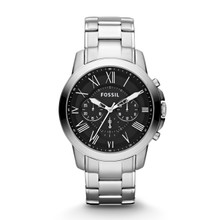Fossil Men's Grant Chronograph Stainless Steel Watch FS4736 Black