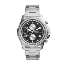 Fossil Men's Dean Chronograph Stainless Steel Watch FS5112 Black