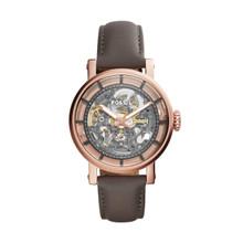 Fossil Women's Original Boyfriend Automatic Gray Leather Watch ME3089 Gray
