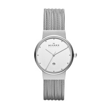 Skagen Stainless Steel Chrome Ladies Watch 355SSS1