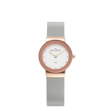 Skagen Freja White Dial Stainless Steel Ladies Watch 358SRSC