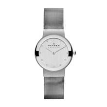 Skagen Classic Chrome Dial Mesh Ladies Watch 358SSSD