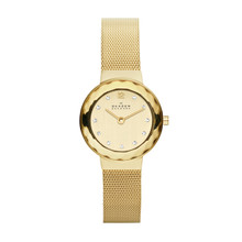 Skagen Champagne Dial Swarovski Crystal Gold-Tone Ladies Watch 456SGSG