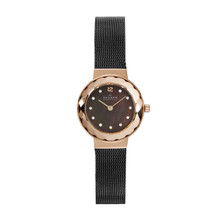 Skagen Leonora Black Mother of Pearl Dial Charcoal Ion-plated Ladies Watch 456SRM