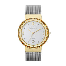 Skagen Leonora Silver Dial Stainless Steel Mesh Ladies Watch SKW2002