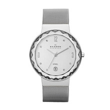 Skagen Leonora Silver Dial Stainless Steel Mesh Ladies Watch SKW2004