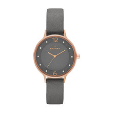 Skagen Anita Grey Dial Grey Leather Ladies Watch SKW2267
