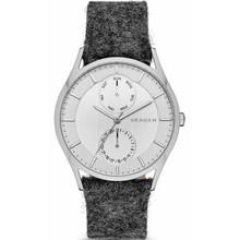 Skagen Holst Men's Felt Leather Band Watch SKW6238