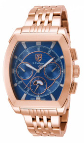 S. Coifman Men's SC0097 Quartz Chronograph Blue Dial  Watch