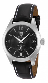 S. Coifman Men's SC0112 Quartz 3 Hand Black Dial  Watch