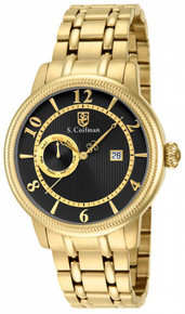 S. Coifman Men's SC0197 Quartz Multifunction Black Dial  Watch