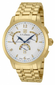 S. Coifman Men's SC0237 Quartz Chronograph Silver Dial  Watch