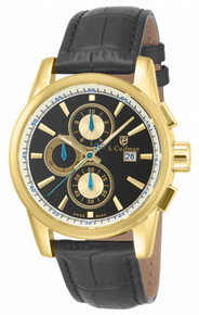 S. Coifman Men's SC0255 Quartz Chronograph Black Dial  Watch