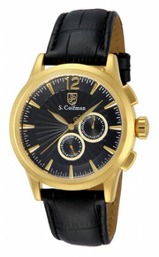 S. Coifman Men's SC0263 Quartz Chronograph Black Dial  Watch