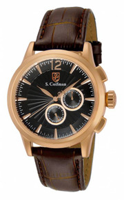 S. Coifman Men's SC0265 Quartz Chronograph Black Dial  Watch