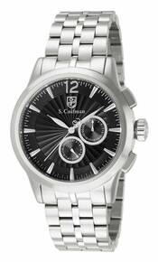 S. Coifman Men's SC0268 Quartz Chronograph Black Dial  Watch