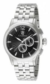 S. Coifman Men's SC0268 Quartz Chronograph Black Dial  Watch