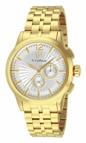 S. Coifman Men's SC0271 Quartz Chronograph Metallic White Dial  Watch