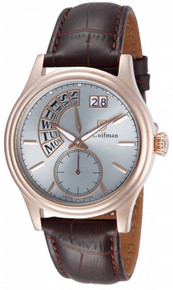 S. Coifman Men's SC0290 Quartz 3 Hand Antique Silver Dial  Watch