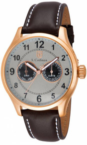S. Coifman Men's SC0318 Quartz Multifunction Light Grey Dial  Watch